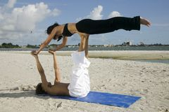 Young couple working out Stock Photography