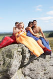 Young Couples On Camping Trip In Countryside Royalty Free Stock Photos