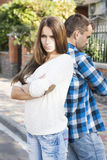 Young couples.conflict Royalty Free Stock Photography