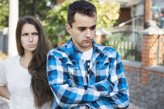 Young couples.conflict Stock Photography