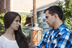 Young couples.conflict Royalty Free Stock Photos