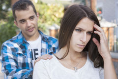 Young couples.conflict Stock Images
