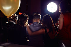 Young Couples Hanging out with Friends stock photography