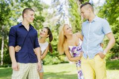 Young couples Royalty Free Stock Photo