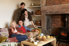 Free Young Couples In Cosy Cottage Stock Images - 21410754