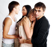 Young couples in love Stock Photo