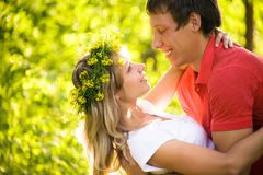 Young  couples in love Stock Images