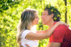 Young  couples in love Royalty Free Stock Photo