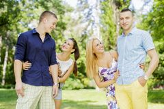 Young couples Royalty Free Stock Images