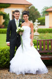 Young coupple just married Stock Images