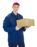 Young courier Stock Photography
