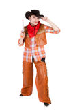 Young cowboy. Closeup image of the young cowboy Stock Photography