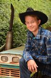 Young Cowboy. Portraits of a young cowboy in western attire Royalty Free Stock Image