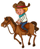 A young cowboy vector illustration