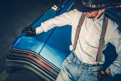 Young Cowboy Driver Stock Images