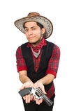 Young cowboy isolated on white Stock Photography
