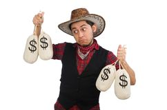 Young cowboy isolated on white Stock Image
