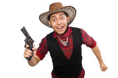 Young cowboy isolated on the white Stock Photography