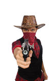 Young cowboy isolated on the white Royalty Free Stock Photo
