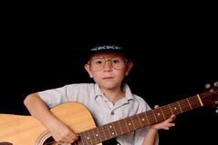 Young Cowboy Musician Royalty Free Stock Photos