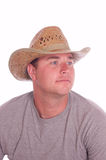 Young cowboy on white Royalty Free Stock Image