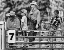 Young Cowboys. Watch the action at the Scott Valley Pleasure Park Rodeo in Etna, California royalty free stock photos