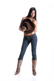 Young Cowgirl Stock Image