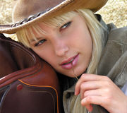 young cowgirl Stock Images