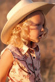 Young cowgirl. Royalty Free Stock Photography