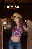 Young cowgirl Stock Photography