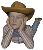 Young cowpoke Stock Images