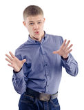 Young crazy guy in a shirt Royalty Free Stock Photos