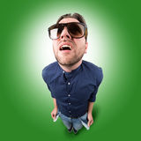 Young crazy man without money Royalty Free Stock Photos