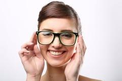 Young crazy nerd woman Stock Photos