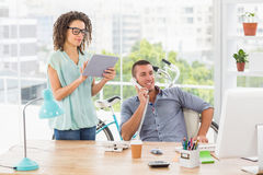 Young creative business colleagues working Royalty Free Stock Images