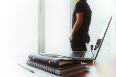 Young creative designer man working at office Stock Photo