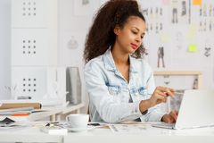 Young creative fashion designer Royalty Free Stock Photography