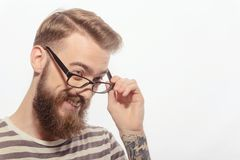 Young creative man with eyeglasses Stock Photography