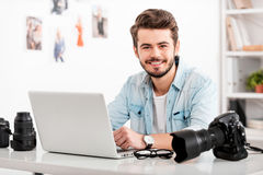 Young and creative photographer. Royalty Free Stock Images