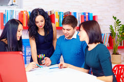 Young and creative team discussing business project Royalty Free Stock Photo
