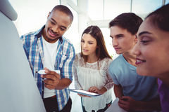 Young creative team having a meeting royalty free stock photography