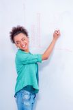 Young creative woman at brainstorming Stock Image