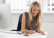 Young creative woman at work Stock Photos