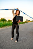 Young criminalist Stock Photo