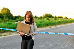 Young criminalist Royalty Free Stock Images