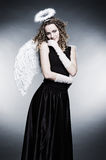 Young curly angel Royalty Free Stock Photo