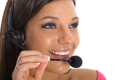 Young customer service. Shot of a young customer service Royalty Free Stock Image