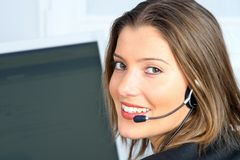 Young customer service Stock Photos