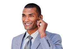 Young customer service agent with headset on Stock Photography