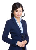 Young customer service girl Royalty Free Stock Photography